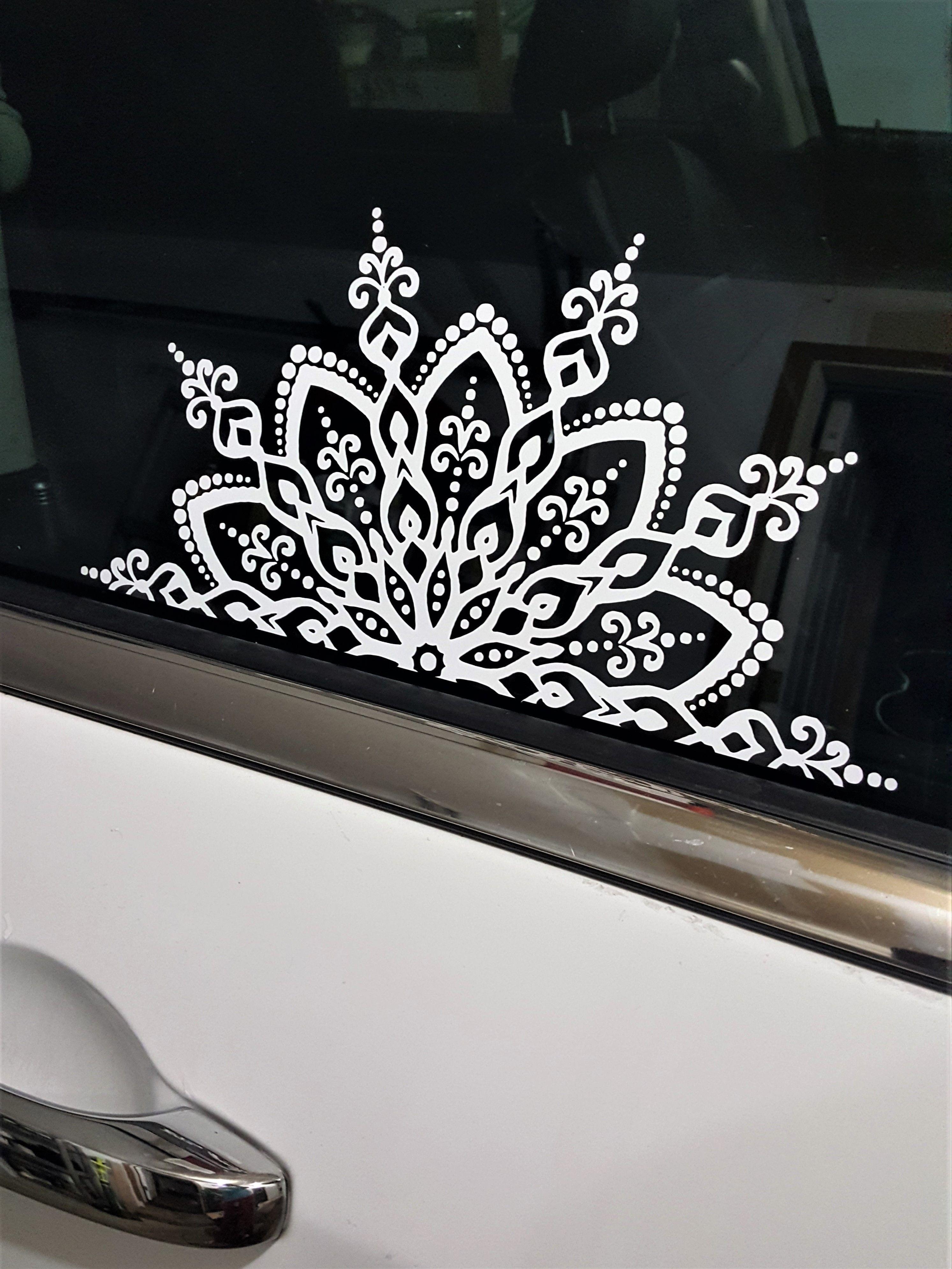 Mandala Car Decal Mandala Sticker Half Mandala Mandala Vinyl Decal Sticker Flower Decal Decorative Car Decals In 2021 Mandala Decals Car Deco Large Decal [ 3981 x 2987 Pixel ]