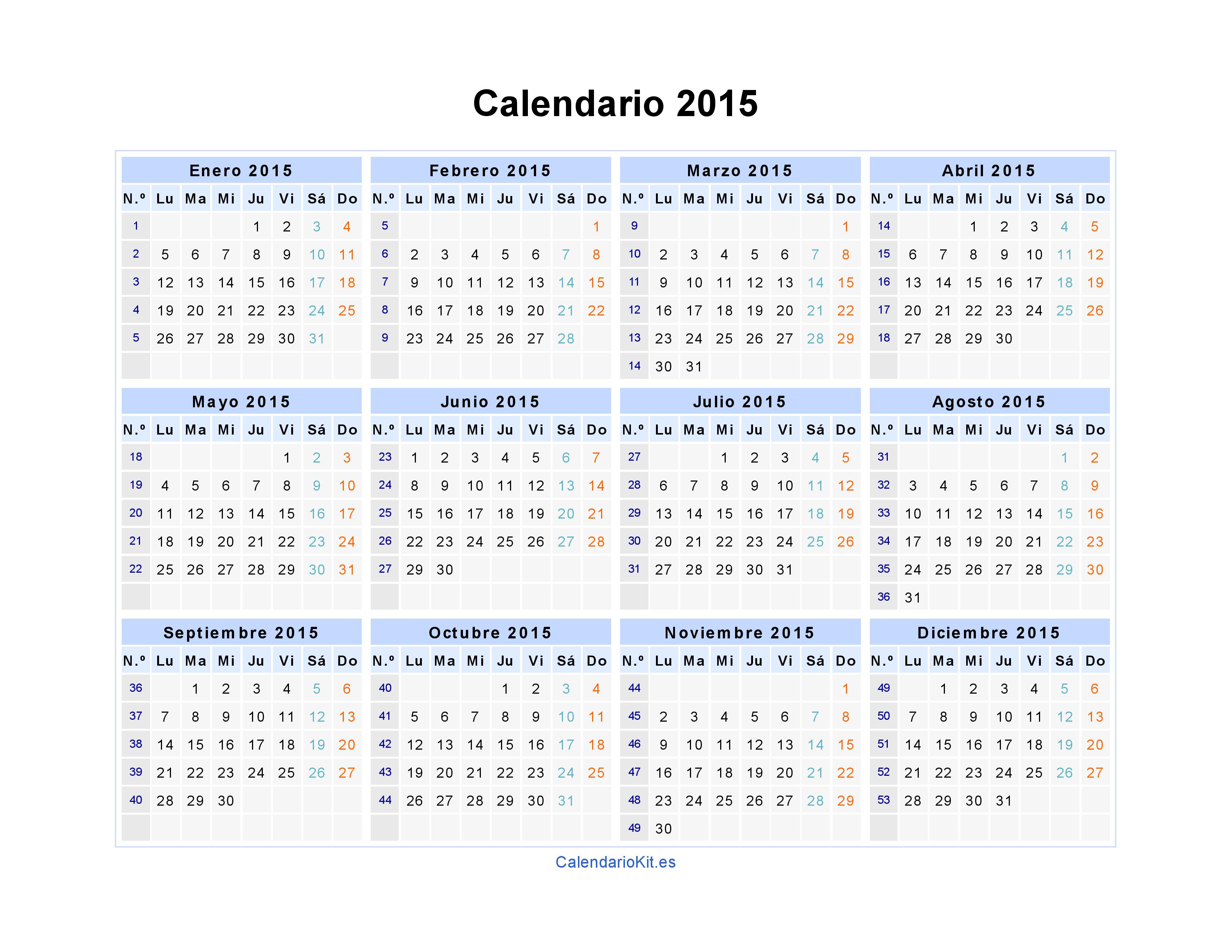 imprimir archives calendario 2015 | News to Go 2 | Pinterest ...