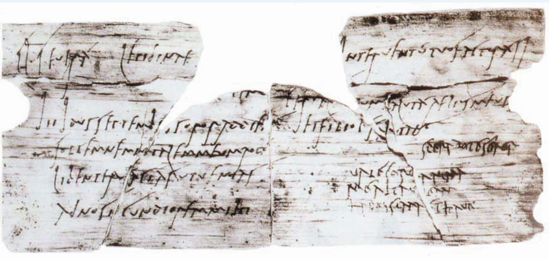 A scan of latter with fragments of latin on it archaeology one of the most famous tablets from vindolanda is a birthday party invitation stopboris Images