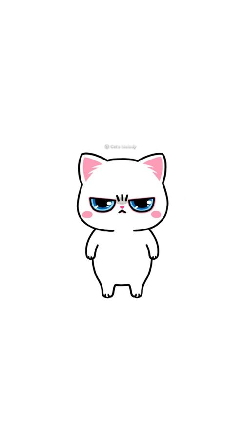 Animals Background And Cat Image Cute Drawings Cute Doodles Cute Cartoon Wallpapers Anime white cat wallpaper