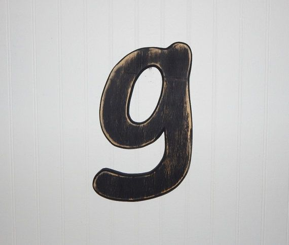 Wooden Letter G Lowercase Wall Decor