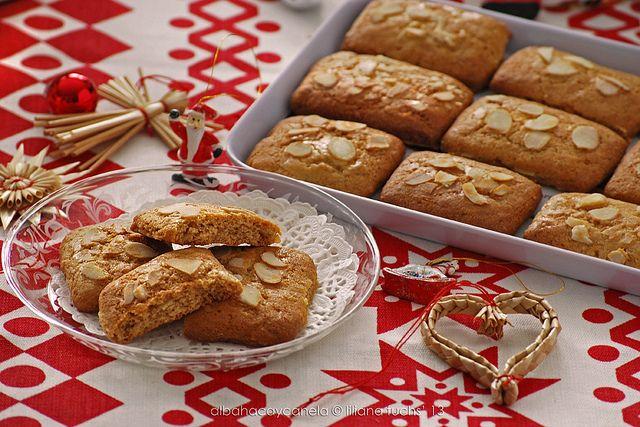 Maldelprinten - Receta de galletas navideñas de miel y almendra