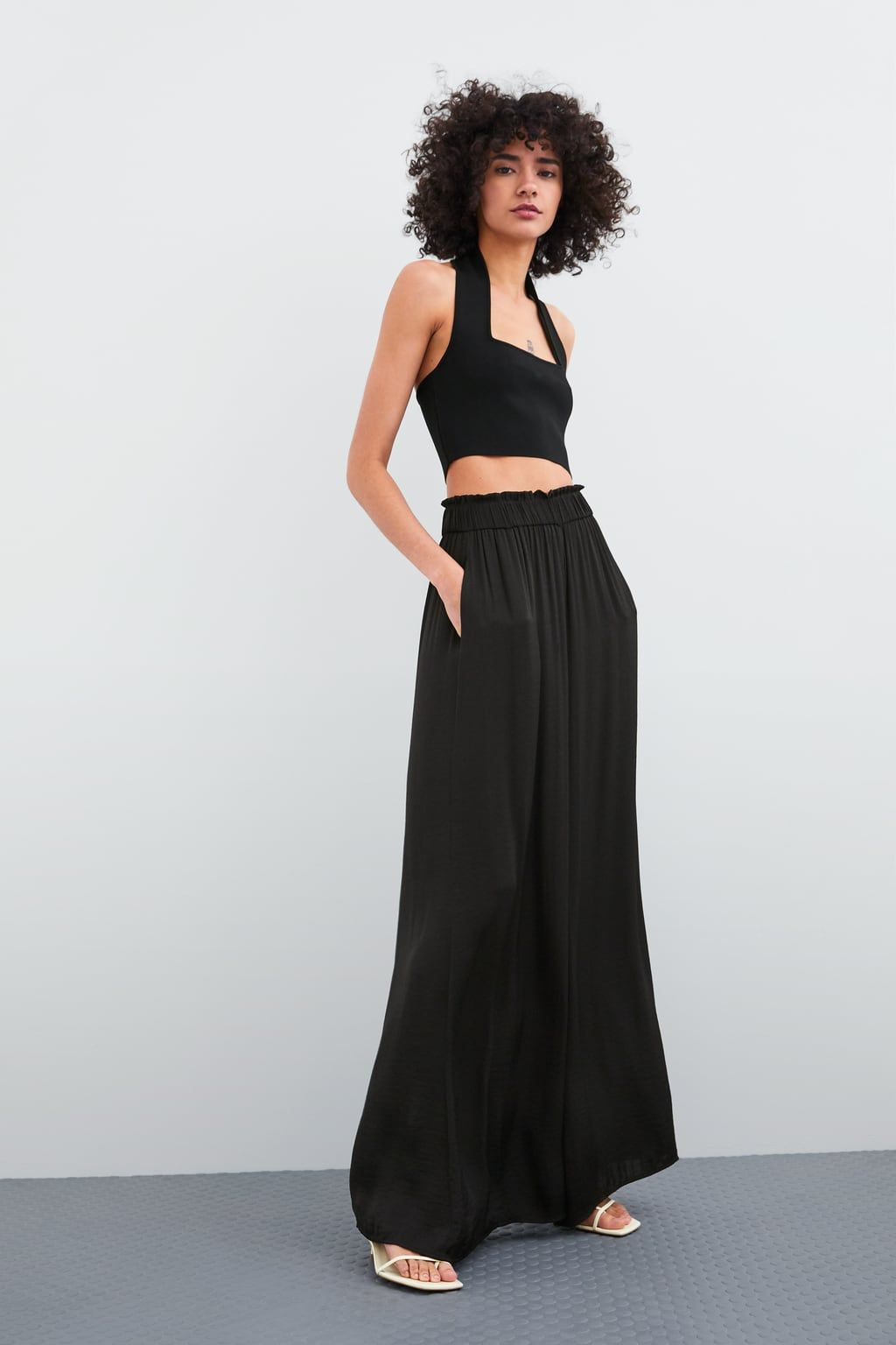 e4375b3257175f FLOWING WIDE - LEG TROUSERS-NEW IN-TRF | ZARA United Kingdom | SS19 ...