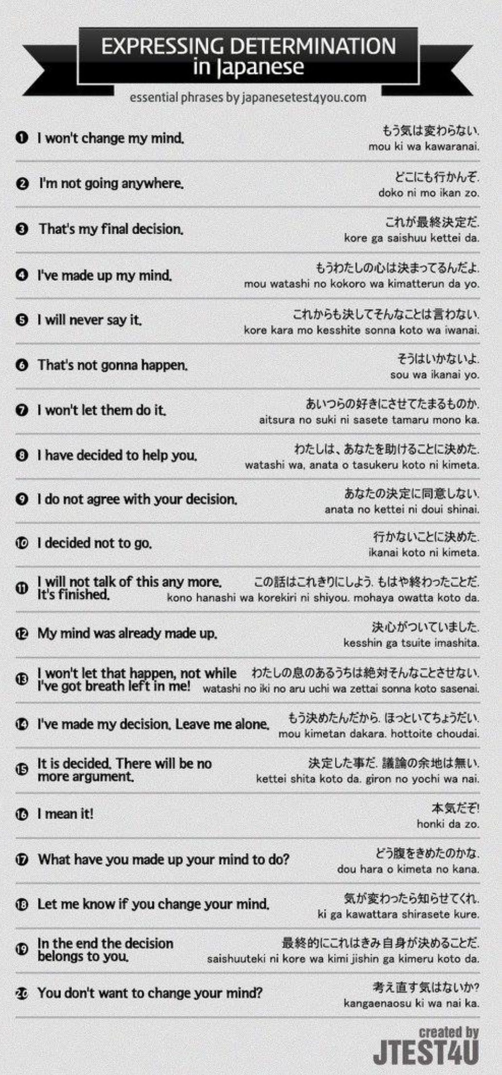 English Phrases determination in Japanese Japanese