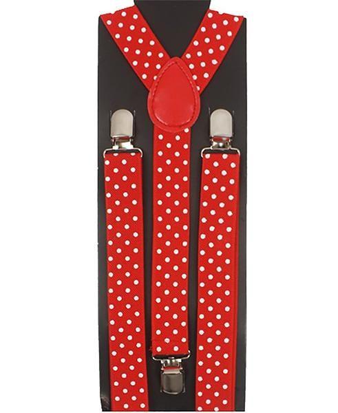 Colorful Polka Dot Adjustable Fashion Suspenders