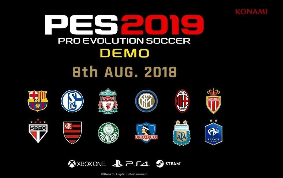 BREAKING NEWS: PES 2019 DEMO IS COMING ON 8TH AUGUST WHOS
