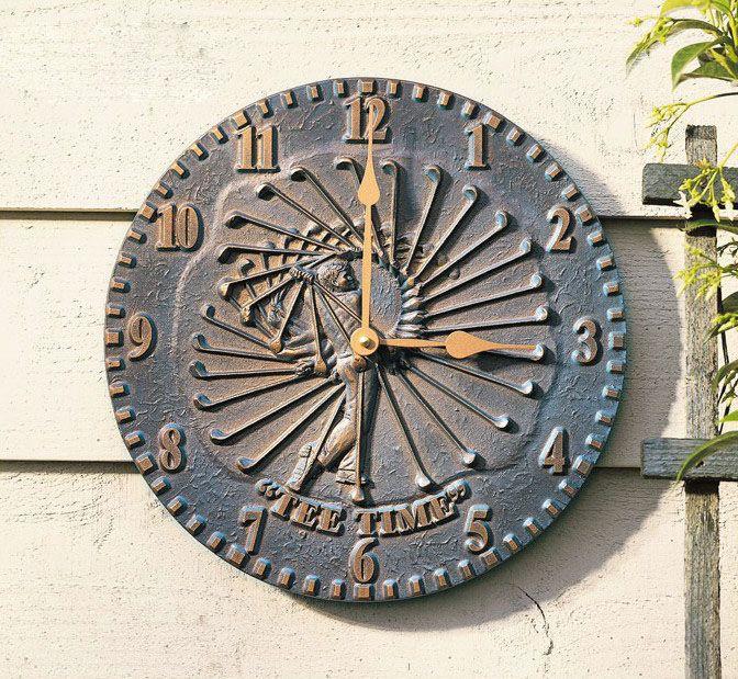 "12"" Golfer Clock 54.00 Clock, Whitehall, Wall clock"