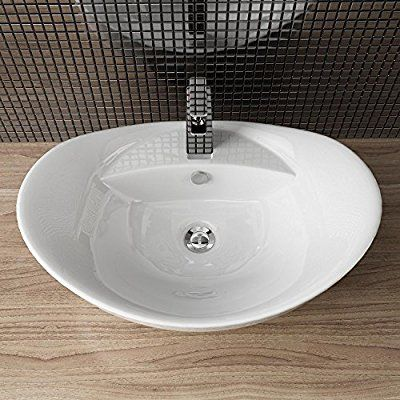 Keramik Waschschale Aufsatzwaschbecken Waschtisch Badezimmer Waschplatz Neu