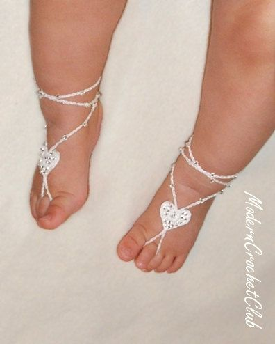 PRECIOUS HEART BABY Barefoot by ModernCrochetClub on Etsy 1500