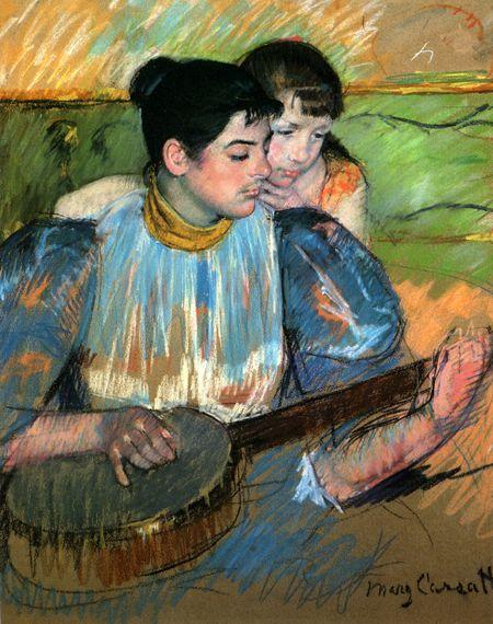THE BANJO LESSON 1894 Artist Mary Cassatt