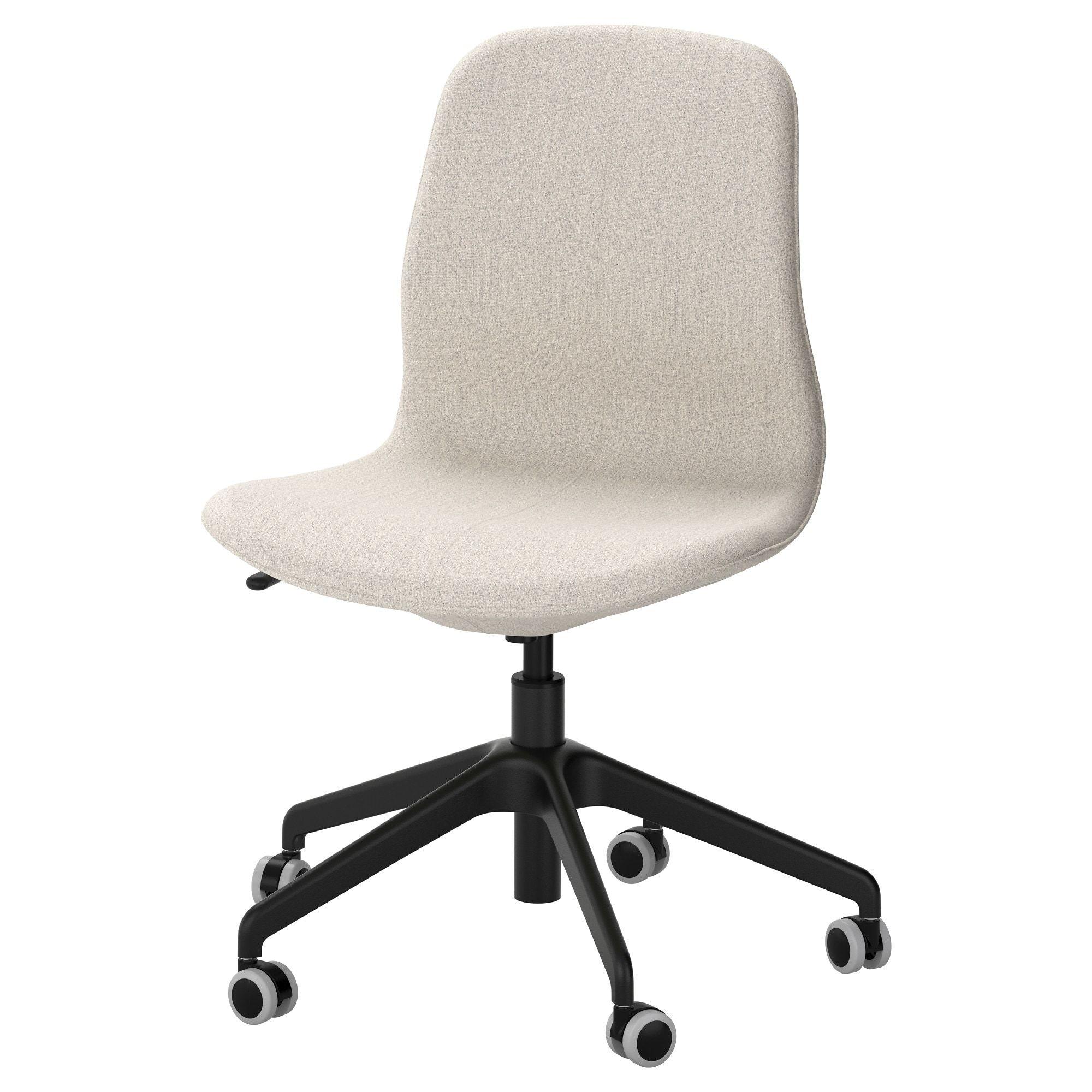 Langfjall Office Chair Gunnared Beige Black Ikea Fauteuil Pivotant Chaise De Bureau Ergonomique Chaise Bureau