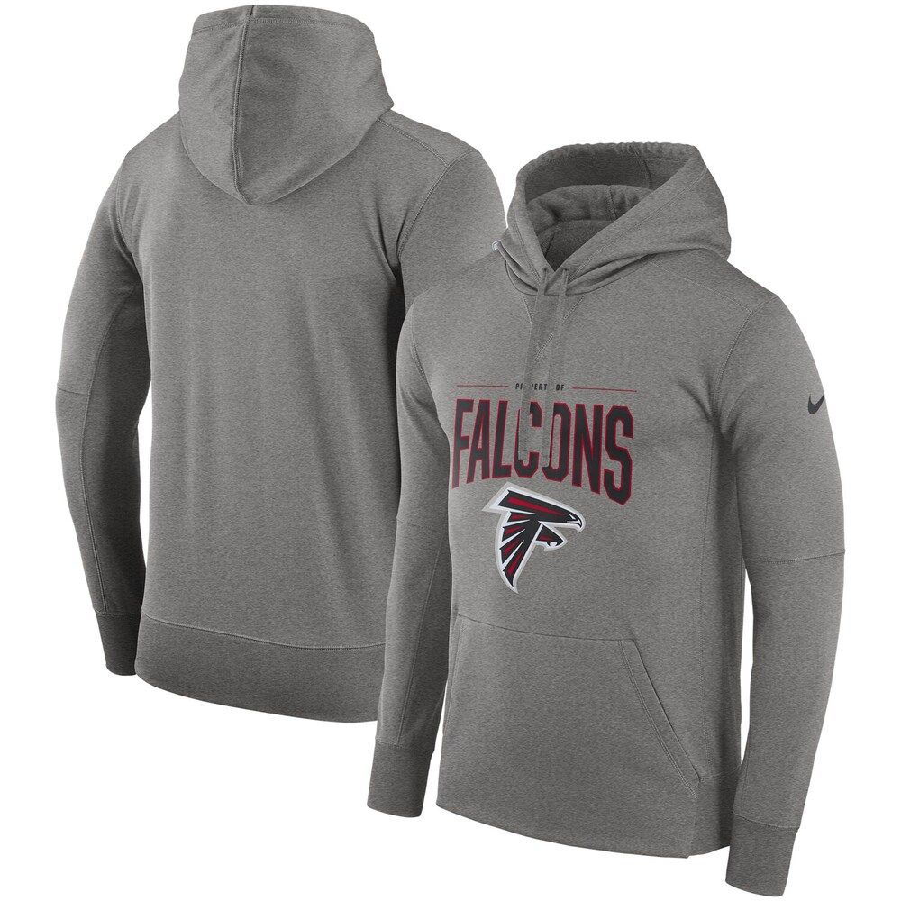 Men S Nike Gray Atlanta Falcons Sideline Property Of Performance Pullover Hoodie In 2020 Hoodies Nike Men Grey Hoodie