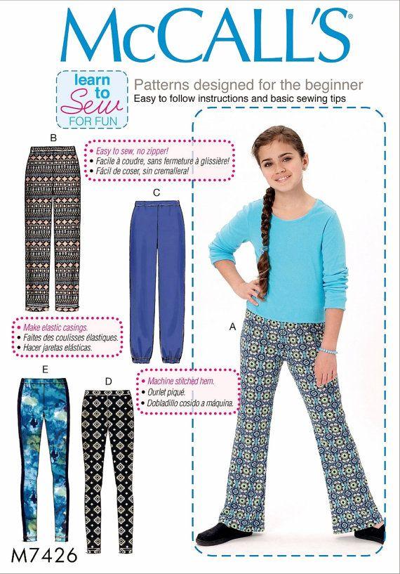 2374548e4 Sewing Pattern Tween Girls  Learn to Sew Pants Pattern