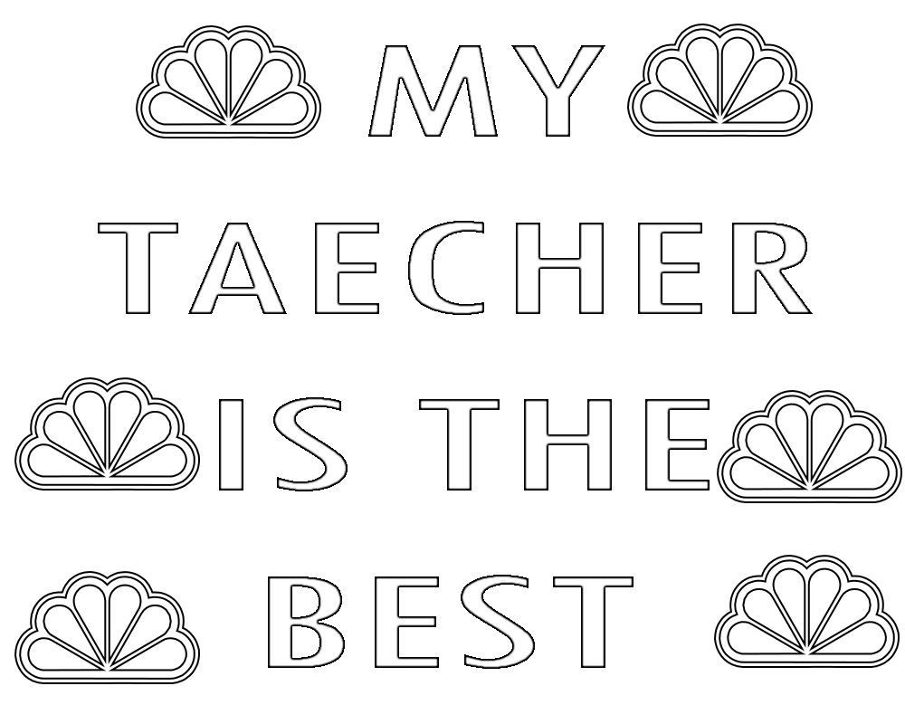 Teacher Appreciation Week Coloring Pages Printable Happy Teachers Day Teacher Appreciation Coloring Pages