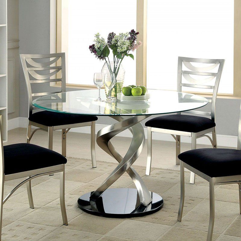 Roxo Round Dining Table Glass Round Dining Table Modern Glass Dining Table Glass Dining Room Table