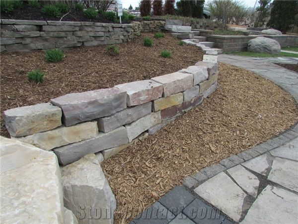Landscaping With Limestone Blocks : Lake michigan limestone garden rocks boulders from united
