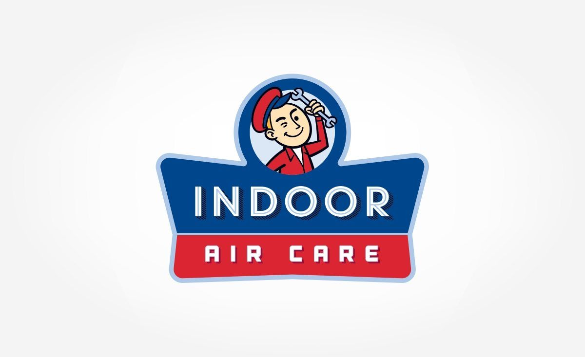 Indoor Air Care Kickcharge Creative Logos Design Vintage Logo