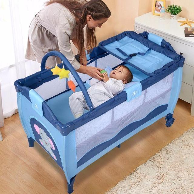 Baby Crib, Bed sheet, LED Star Light Combo