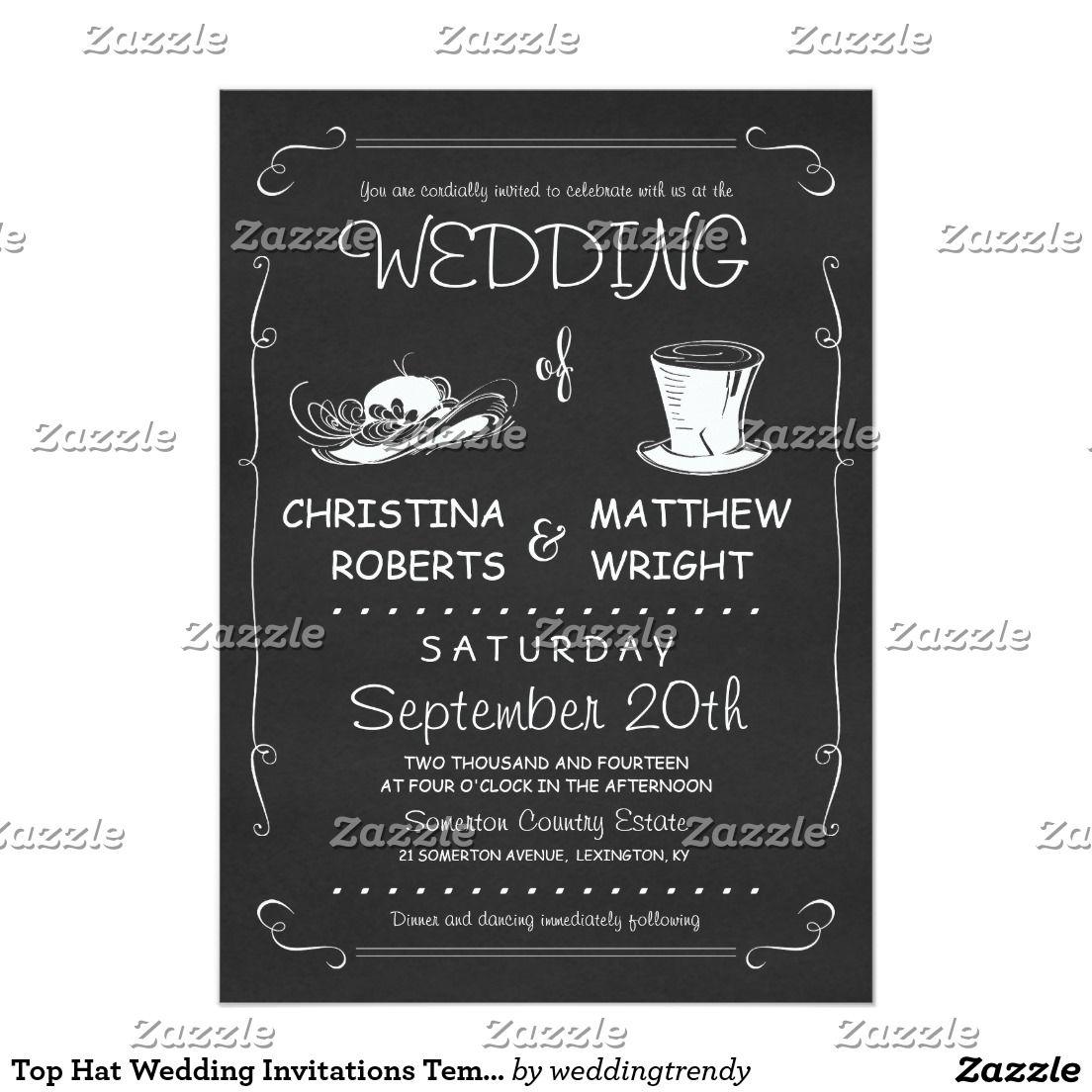 Top hat wedding invitations template black wedding invitations top hat wedding invitations template stopboris Choice Image