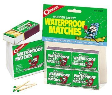 Waterproof Matches 940BP Coghlans 4 Pack