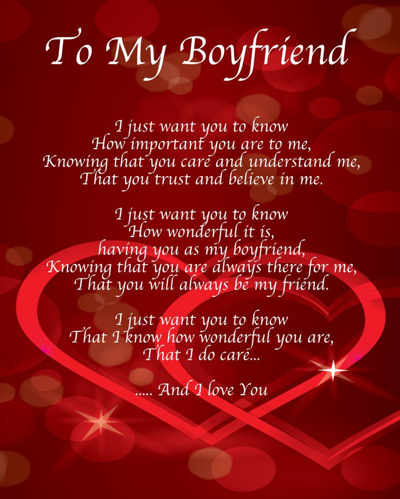 Happy Birthday Poems For Him Cute Poetry For Boyfriend Or: Details About To My Boyfriend Poem Birthday Christmas