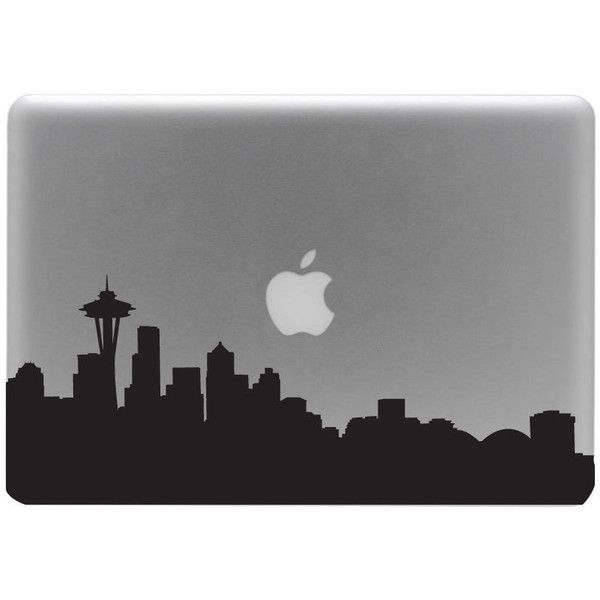 Seattle Skyline Macbook Decal / Macbook Sticker / Laptop Decal (€8,06) ❤ liked on Polyvore featuring accessories, tech accessories, fillers, electronics, tech, technology and waterproof smartphone