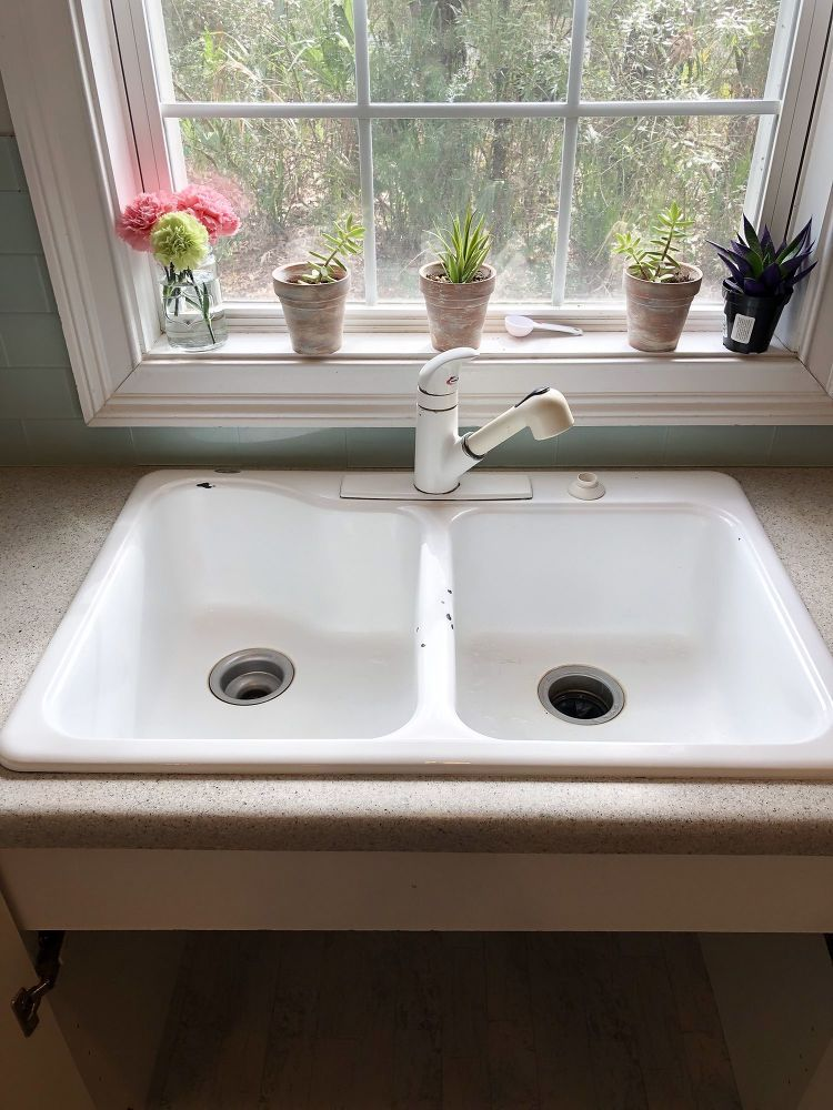 How To Install A Farmhouse Drop In Sink Diy Drop In Sink Drop