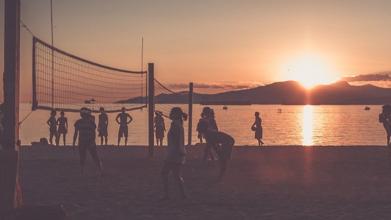 Beach Volleyball Backgrounds Volleyball Backgrounds Sunset Beach Volleyball