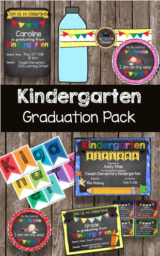 Kindergarten graduation free printables for an adorable - Kindergarten graduation decorations ...