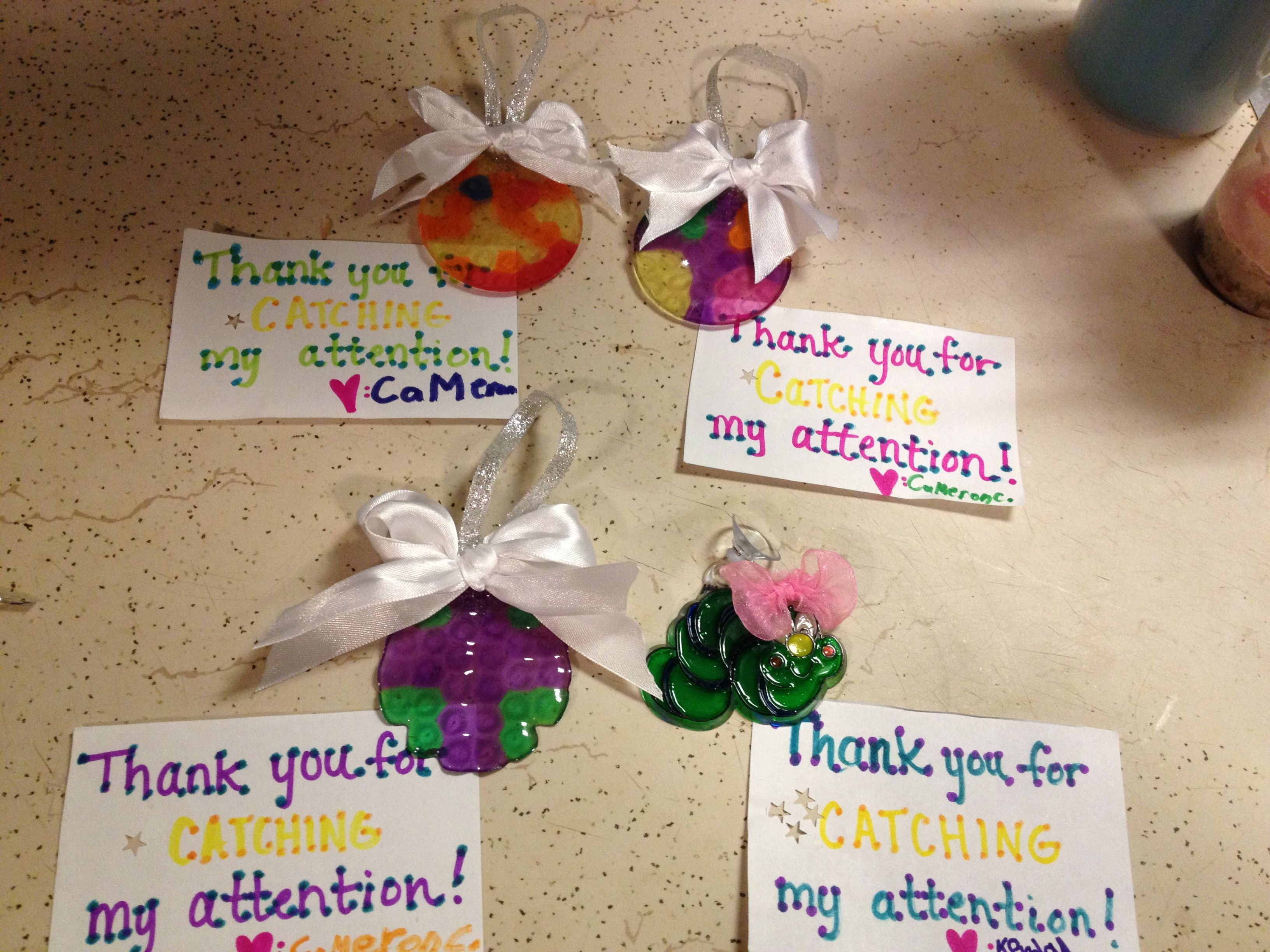 "Teacher appreciation Sun catcher saying ""Thank you for CATCHING my"