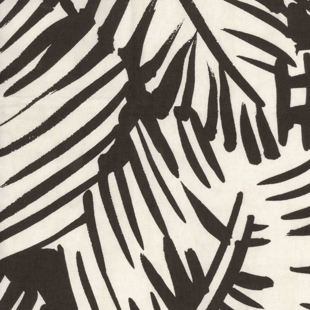 FEUILLAGE IMPRIME Taken from an original gouache by Raoul Dufy, these large palm leaves intertwine on an abaca canvas Dedar/Hermes