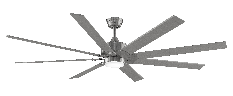 Fanimation Levon Custom Indoor Ceiling Fan in Brushed