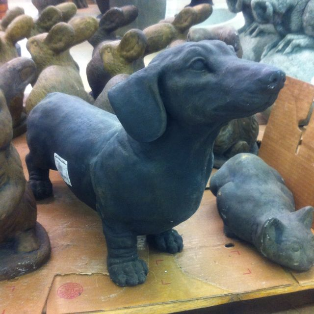 Dachshund Garden statue wish he would have followed me home lol