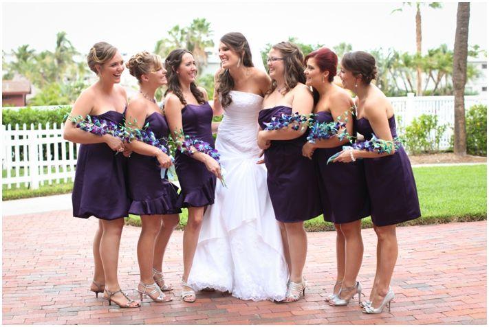 Deep Purple Bridesmaid Dresses at Guy Harvey Resort l Michelle Stoker Photography
