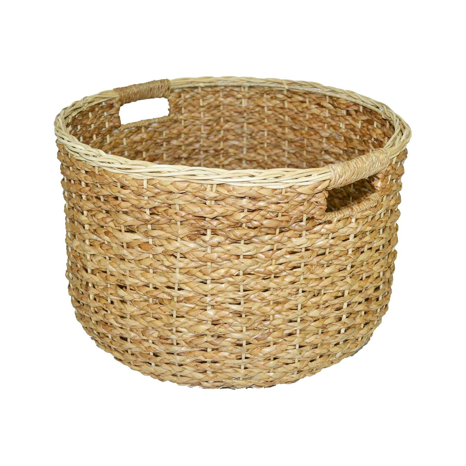 Looking For A Stylish And Functional Storage Basket This Round Seagrass Wicker Decorative Basket From Threshol Cube Storage Baskets Fall Entryway Decor Wicker