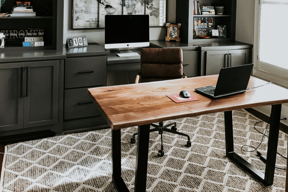 Walnut Live Edge Table In 2020 Handmade Office Furniture Live