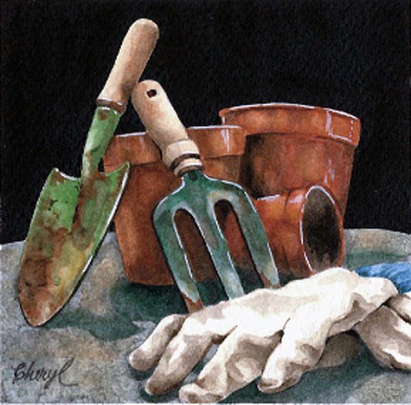 Cheryl Bannister Watercolor Garden Artwork Watercolor Lessons