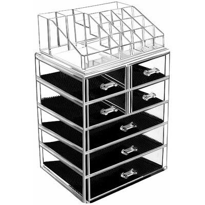 Symple Stuff Carr 2 Piece Makeup Organize Set