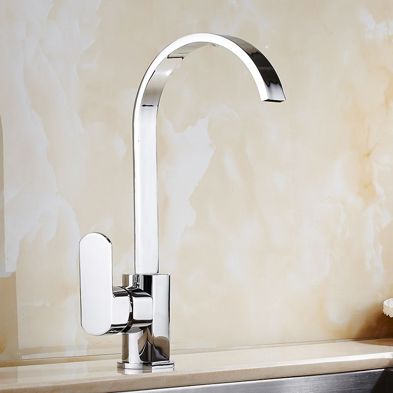 Direct Sale Chrome Brass Kitchen Faucet Cold Hot Water Kitchen Sink