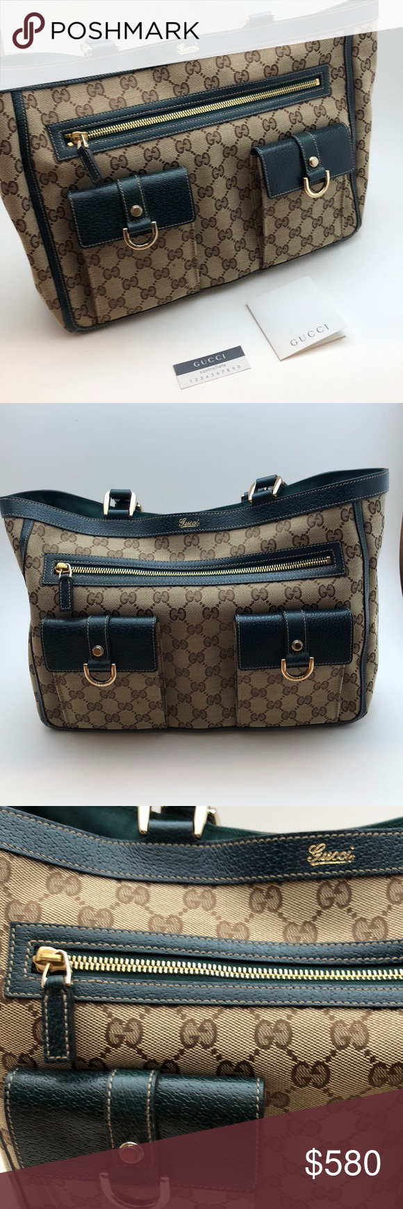 de14f2874d0 NEW Authentic Gucci Crystal Abbey Lg Pocket Tote New  Nieman Marcus tag  still attached. Perfect condition