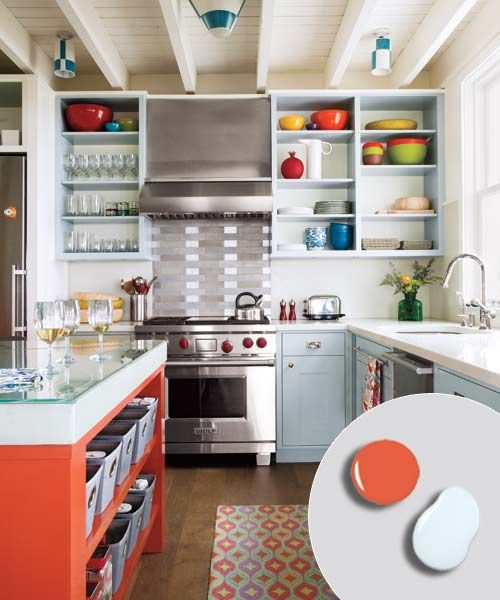 Kitchen Open Shelving Depth: 12 Kitchen Cabinet Color Combos That Really Cook