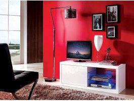 Meuble Tv Design Blanc Lumineux Alanis Meuble Tv Design Meuble