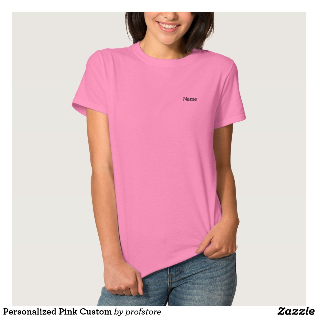 Personalized Pink Custom Embroidered Shirt Custom Embroidered Shirts