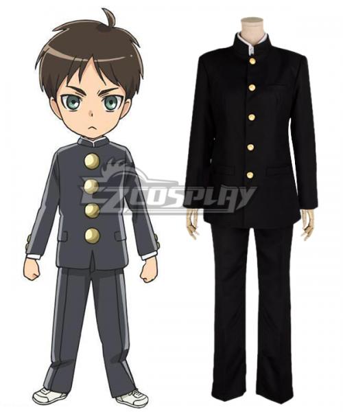 Anime Attack on Titan Mikasa Ackerman Junior High School Uniform Cosplay Costume