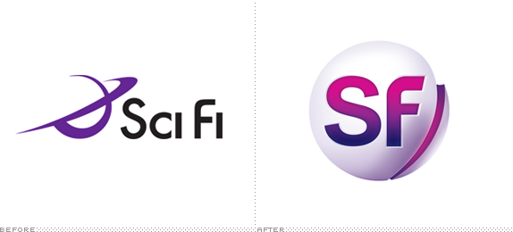 Sf Channel Logo Before And After Motion Graphic Design Inspiration Branding Channel Logo Science Fiction Future Logo