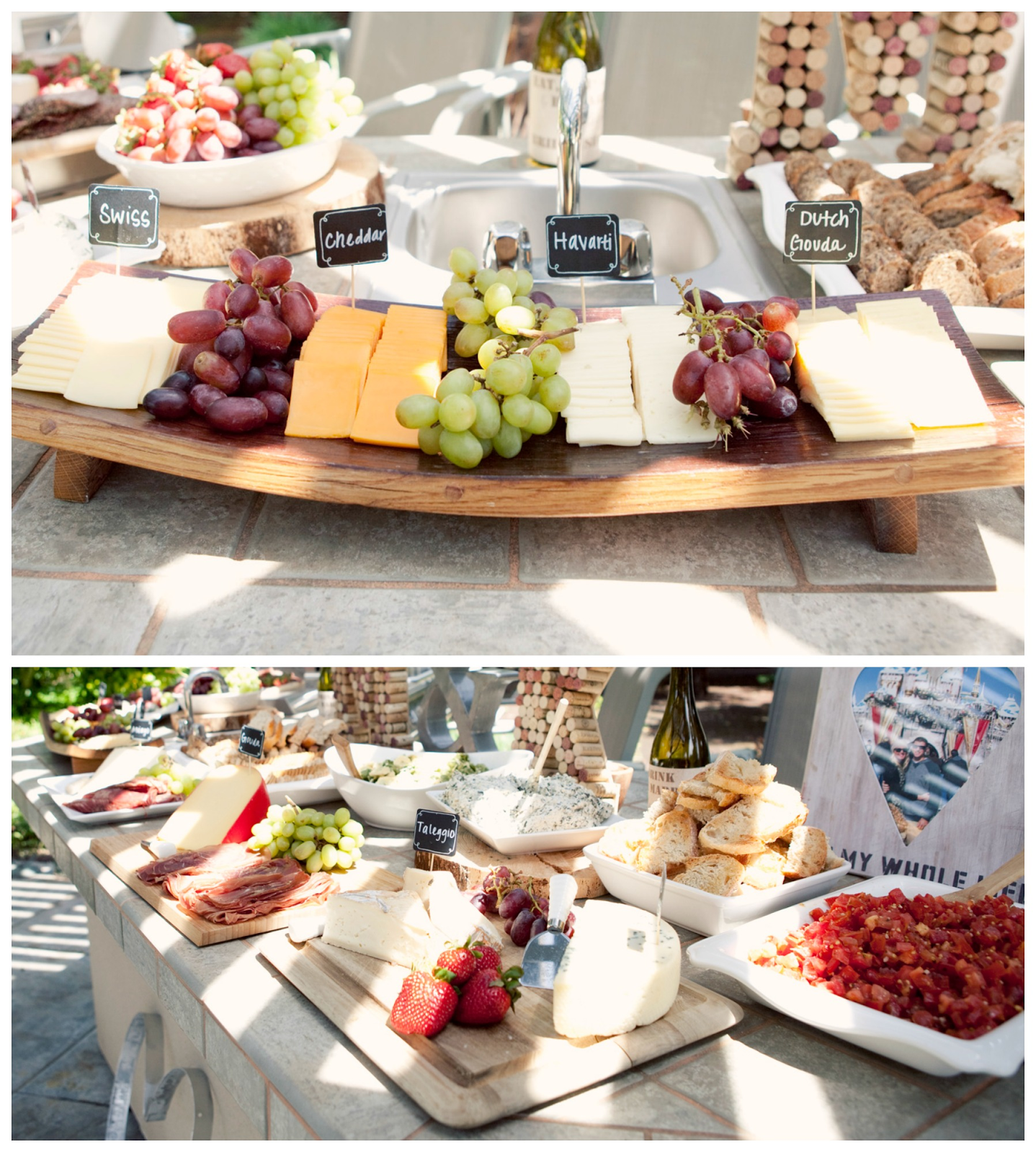 Wedding Reception Food Trays: Cheese Tray, Wine And Cheese Bridal Shower, Cheese Labels