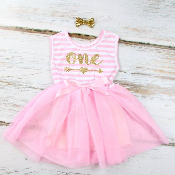 1st Birthday Tutu Dress Glitter One With Arrow by OliveLovesApple ... 6232dc06b