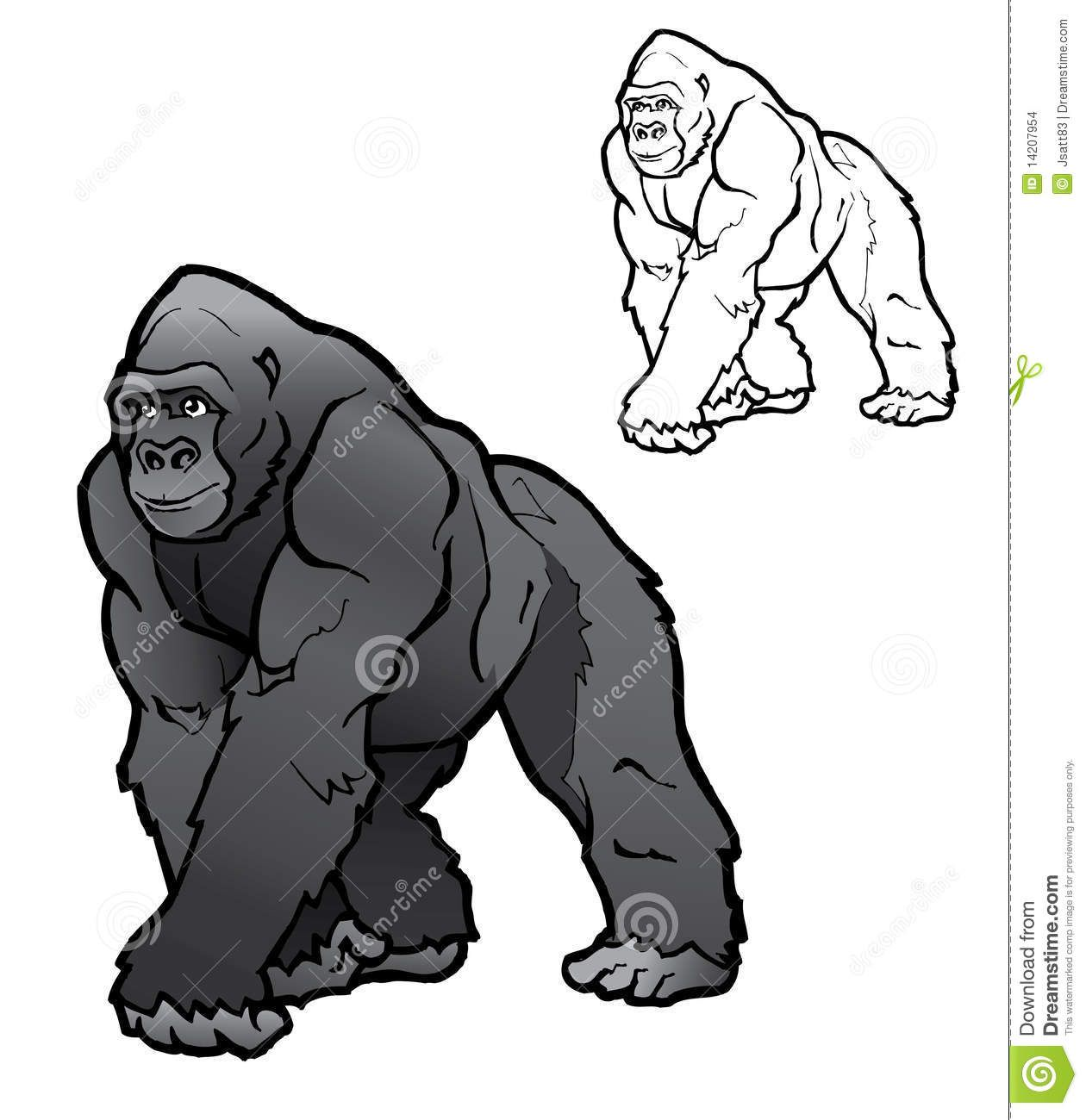 Cartoon Silverback Gorilla Google Search With Images