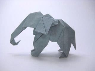 ゾウ 創作 山田勝久 作品のアイデア おりがみを1枚使用して切らないで ゾウをデザインした創作折り紙作品 折り紙ゾウの折り方作り方 創作 Origami Elephant 折り紙動物の基本形の折り方作り方 創作 Basic Form Of Origami Animals 別のゾウ 折り紙 ぞう 折り紙
