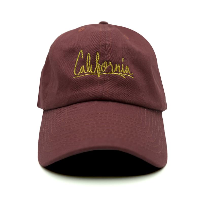 California Dad Hat - Maroon  19b4608007a
